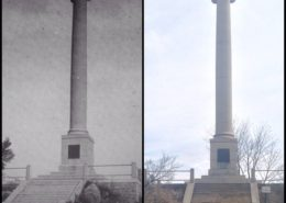 Rumsey Monument, then and now